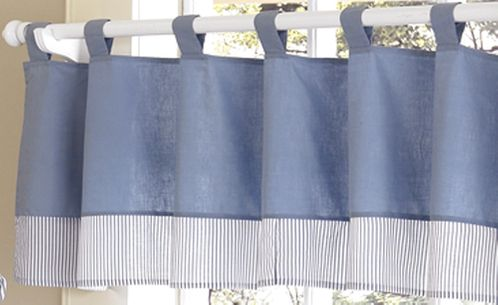 Come Sail Away Nautical Window Valance - Click to enlarge