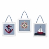 Come Sail Away Wall Hanging Art Decor 3 Piece Set