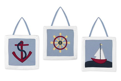 Come Sail Away Wall Hanging Art Decor 3 Piece Set - Click to enlarge
