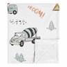 Construction Truck Baby Boy Receiving Security Swaddle Blanket for Newborn or Toddler Nursery Car Seat Stroller Soft Minky by Sweet Jojo Designs - Grey Yellow Orange Red and Blue Transportation