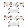 Construction Truck Boy Baby Nursery Crib Bumper Pad by Sweet Jojo Designs - Grey Yellow Orange Red and Blue Transportation Chevron Arrow