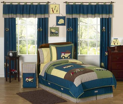 Construction Zone Childrens Bedding - 3 pc Full / Queen Set - Click to enlarge