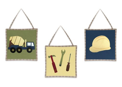 Construction Zone Wall Hanging Accessories by Sweet Jojo Designs - Click to enlarge