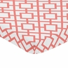 Coral and White Baby Fitted Mini Portable Crib Sheet for Mod Diamond Collection by Sweet Jojo Designs