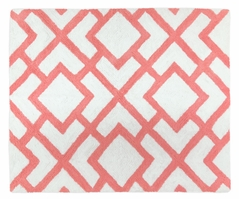 Coral and White Diamond Accent Floor Rug by Sweet Jojo Designs