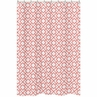 Coral and White Diamond Kids Bathroom Fabric Bath Shower Curtain by Sweet Jojo Designs