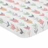 Coral, Grey and Mint Baby Fitted Mini Portable Crib Sheet for Mod Arrow Collection by Sweet Jojo Designs