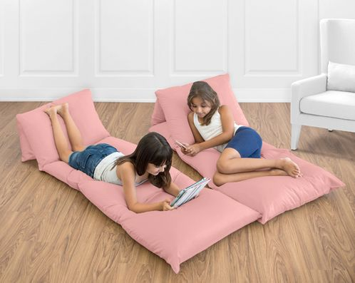 Coral Kids Teen Floor Pillow Case Lounger Cushion Cover by Sweet Jojo Designs - Click to enlarge