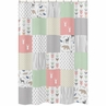 Coral, Mint and Grey Woodsy Kids Bathroom Fabric Bath Shower Curtain by Sweet Jojo Designs