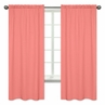 Coral Window Treatment Panels for Coral and White Diamond Collection by Sweet Jojo Designs - Set of 2