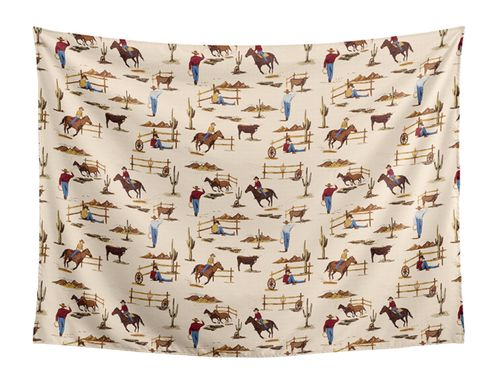 Cowboy Wall Hanging Tapestry Art Decor for Wild West Collection by Sweet Jojo Designs - 60in. x 80in. - Click to enlarge