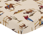 Cowboy Western Baby Fitted Mini Portable Crib Sheet for Wild West Collection by Sweet Jojo Designs