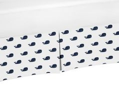 Crib Bed Skirt for Blue Whale Collection Baby Bedding Sets by Sweet Jojo Designs