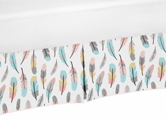 Crib Bed Skirt for Feather Baby Bedding Sets by Sweet Jojo Designs