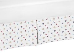 Crib Bed Skirt for Nautical Nights Sailboat Baby Bedding Sets by Sweet Jojo Designs