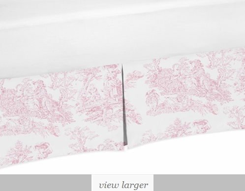 Crib Bed Skirt For Pink French Toile Baby Bedding Sets By Sweet Jojo Designs Only 39 99