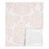 Damask Baby Girl Receiving Security Swaddle Blanket for Newborn or Toddler Nursery Car Seat Stroller Soft Minky by Sweet Jojo Designs - Blush Pink and White Amelia Collection