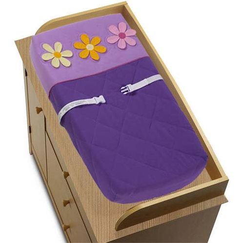 Danielle's Daisies Changing Pad Cover - Click to enlarge