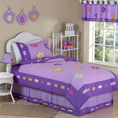 Danielle's Daisies Childrens Bedding - 4 pc Twin Set - Click to enlarge