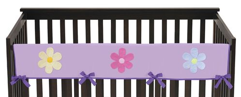 Danielle's Purple Daisies Baby Crib Long Rail Guard Cover by Sweet Jojo Designs - Click to enlarge