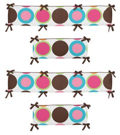 Deco Dot Modern Baby Crib Bumper Pad by Sweet Jojo Designs