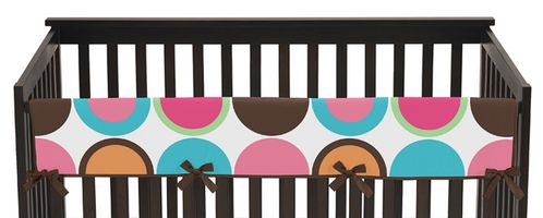 Deco Dot Modern Baby Crib Long Rail Guard Cover by Sweet Jojo Designs - Click to enlarge