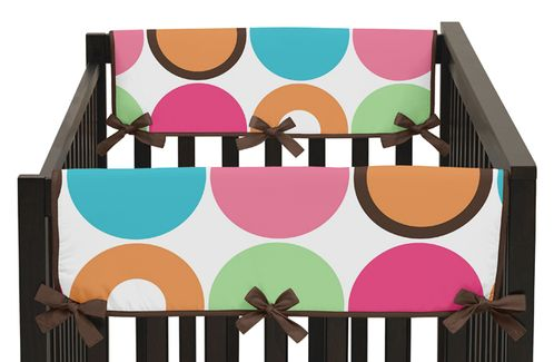 Deco Dot Modern Baby Crib Side Rail Guard Covers by Sweet Jojo Designs - Set of 2 - Click to enlarge
