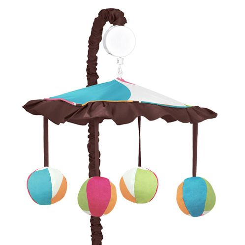 Deco Dot Musical Baby Crib Mobile by Sweet Jojo Designs - Click to enlarge