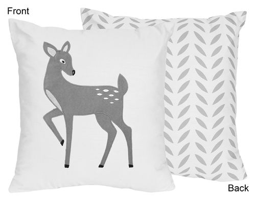 Decorative Accent Throw Pillow for Forest Deer and Dandelion Collection By Sweet Jojo Designs - Click to enlarge