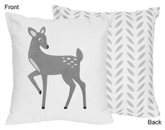 Decorative Accent Throw Pillow for Forest Deer and Dandelion Collection By Sweet Jojo Designs