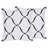 Decorative Accent Throw Pillows for Pink, Black and White Princess Collection - Set of 2