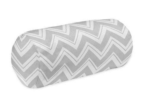 Decorative Neckroll Bolster Pillow for Yellow and Grey Chevron Zig Zag Bedding by Sweet Jojo Designs - Click to enlarge