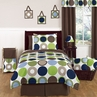 Designer Dot Boys Modern Childrens and Teen Bedding by Sweet Jojo Designs - 3pc Full / Queen Set