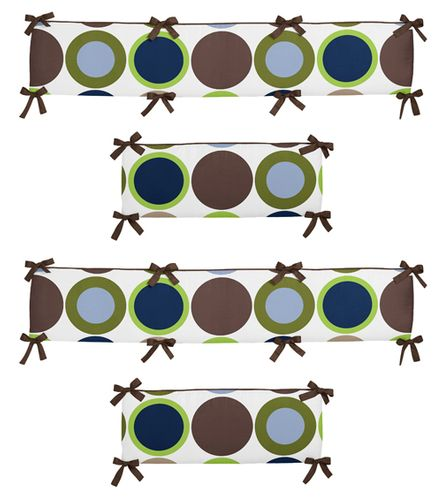 Designer Dot Collection Crib Bumper by Sweet Jojo Designs - Click to enlarge