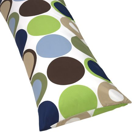 Designer Dot Full Length Double Zippered Body Pillow Case Cover  by Sweet Jojo Designs - Click to enlarge