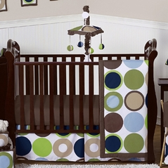 Designer Dot Modern Baby Boys Bedding by Sweet Jojo Designs - 11pc Crib Set