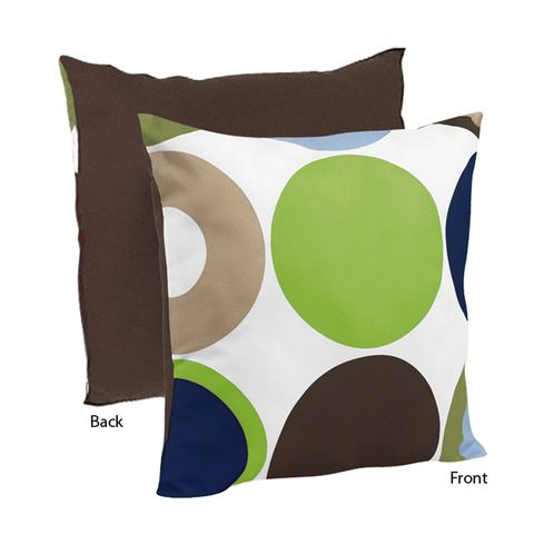 Designer Dot Modern Decorative Accent Throw Pillow by Sweet Jojo Designs - Click to enlarge