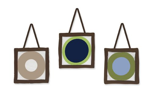 Designer Dot Modern Wall Hanging Accessories by Sweet Jojo Designs - Click to enlarge