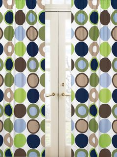 Designer Dot Modern Window Treatment Panels by Sweet Jojo Designs - Set of 2