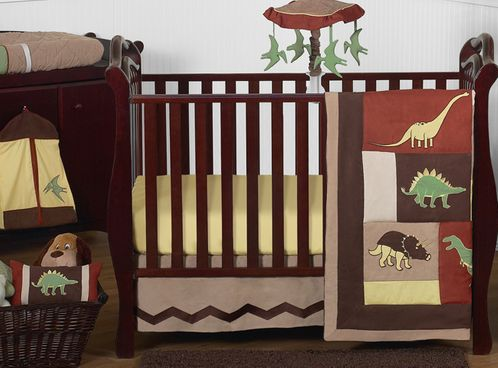 Dinosaur Baby Bedding - 11pc Crib Set by Sweet Jojo Designs - Click to enlarge