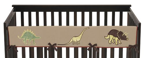Dinosaur Baby Crib Long Rail Guard Cover by Sweet Jojo Designs - Click to enlarge