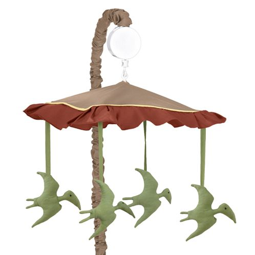 Dinosaur Musical Baby Crib Mobile by Sweet Jojo Designs - Click to enlarge