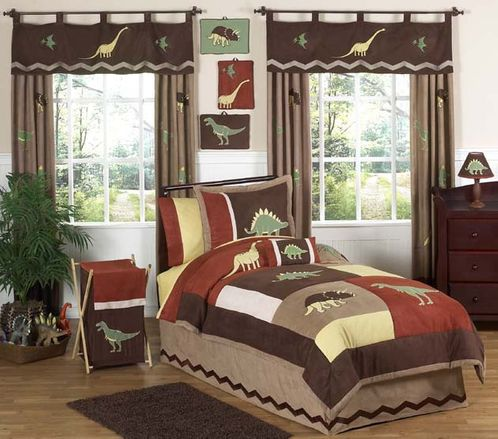 Dinosaur Twin Bedding - 4 pc Childrens Set - Click to enlarge