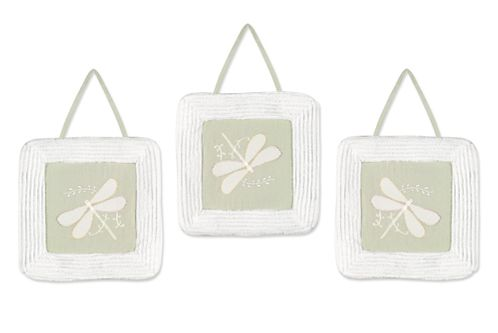 Dragonfly Dreams Green Wall Hanging Art Decor 3 Piece Set - Click to enlarge