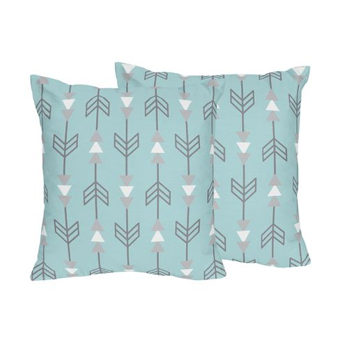 Earth and Sky Arrow Print Decorative Accent Throw Pillows - Set of 2 - Click to enlarge