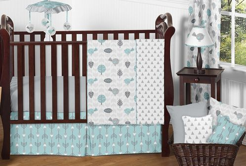 Earth and Sky Baby Bedding - 11pc Crib Set by Sweet Jojo Designs - Click to enlarge