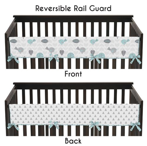 Earth and Sky Baby Crib Long Rail Guard Cover by Sweet Jojo Designs - Click to enlarge