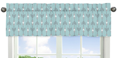 Earth and Sky Collection Arrow Print Window Valance