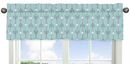 Earth and Sky�Collection Arrow Print Window Valance - Click to enlarge