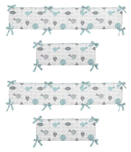 Earth and Sky Collection Crib Bumper by Sweet Jojo Designs - Click to enlarge